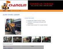 Changlin Canada website design