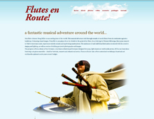 Flutes en Route website design