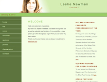 Leslie Newman website design