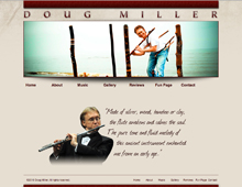 Doug Miller website design